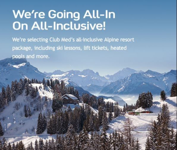 Club med ski alps for All inclusive winter vacations